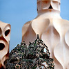 Chimneys, Mila House (by Gaudi), town of Barcelona, autonomous commnunity of Catalonia, northeastern Spain