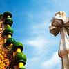 Cerámica en la cubierta de la Casa Batlló, obra de Gaudí, paseo de Gracia, Barcelona