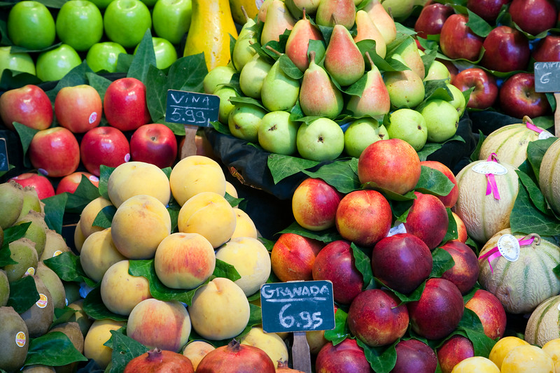 Fruit, Boqueria market, town of Barcelona, autonomous commnunity of Catalonia, northeastern Spain