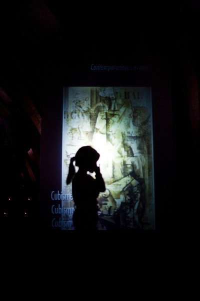 Little girl silhouette, Mila house (by Gaudi) exhibition, town of Barcelona, autonomous commnunity of Catalonia, northeastern Spain