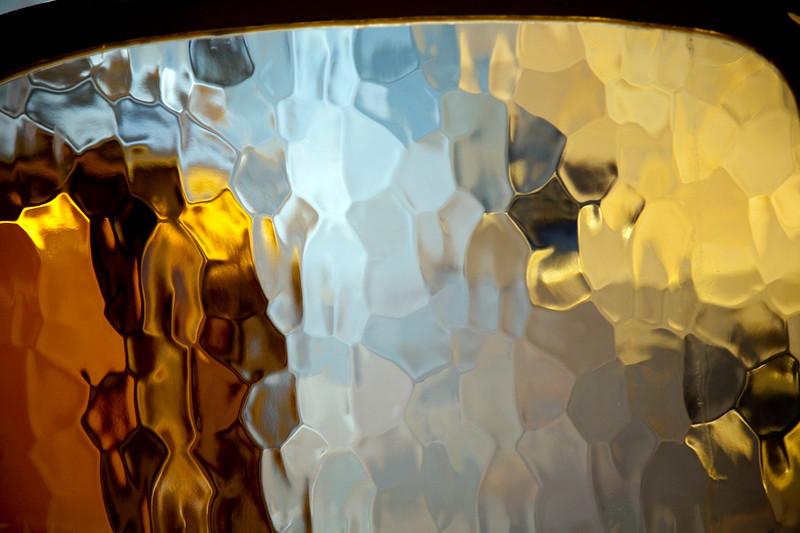 Glazed window, Batllo house (by Gaudi), town of Barcelona, autonomous commnunity of Catalonia, northeastern Spain