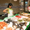 Seafoood, Boqueria market, town of Barcelona, autonomous commnunity of Catalonia, northeastern Spain