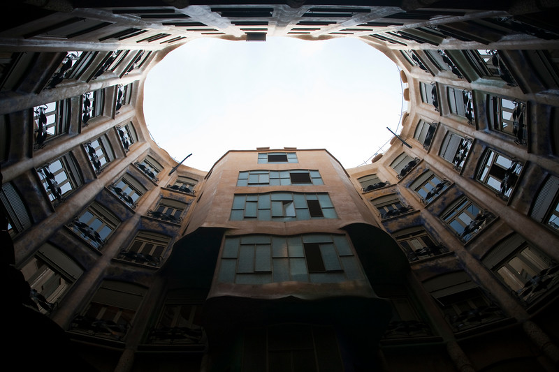 Mila House, also known as La Pedrera (by A. Gaudi), town of Barcelona, autonomous commnunity of Catalonia, northeastern Spain