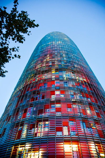 Agbar Tower (work by Jean Nouvel), town of Barcelona, autonomous commnunity of Catalonia, northeastern Spain