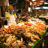 Seafood, Boqueria market, town of Barcelona, autonomous commnunity of Catalonia, northeastern Spain