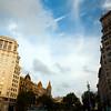 Buildings on Passeig de Gracia, town of Barcelona, autonomous commnunity of Catalonia, northeastern Spain