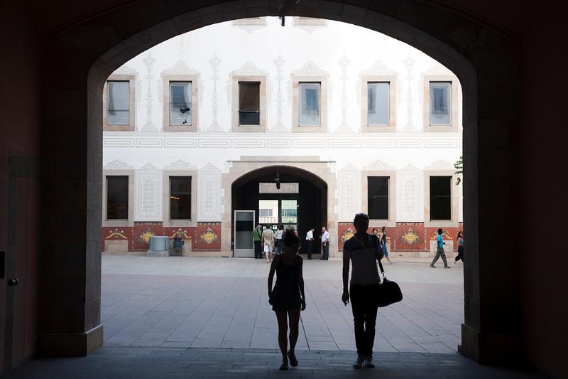 Patio del Centro de Cultura Contemporánea de Barcelona