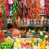 Red chili peppers, Boqueria market, town of Barcelona, autonomous commnunity of Catalonia, northeastern Spain
