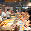 Snack bar at Boqueria market, town of Barcelona, autonomous commnunity of Catalonia, northeastern Spain