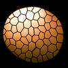 Rounded window, Batllo house (by Gaudi), town of Barcelona, autonomous commnunity of Catalonia, northeastern Spain