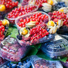 Different kinds of berries, Boqueria market, town of Barcelona, autonomous commnunity of Catalonia, northeastern Spain