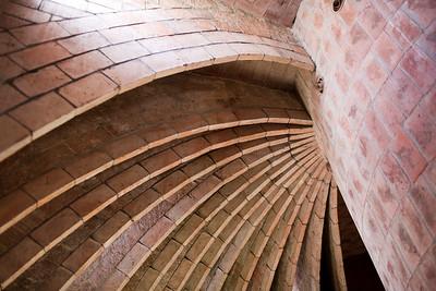 Desván, Casa Milà (La Pedrera), obra de Gaudí, paseo de Gracia, Barcelona
