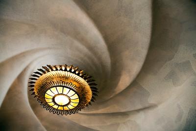 Techo de habitación, Casa Batlló, obra de Gaudí, paseo de Gracia, Barcelona