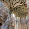 Gothic vaults of the abandoned convent of San Antonio de Padua, Garrovillas, Caceres, Extremadura, Spain