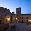 San Jorge square at dusk, Caceres, Spain
