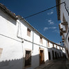Street of the Jewish quarter, town of Valencia de Alcantara, province of Caceres, autonomous community of Extremadura, southwestern Spain