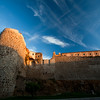 City walls at sunset, town of Plasencia, province of Caceres, autonomous community of Extremadura, western Spain