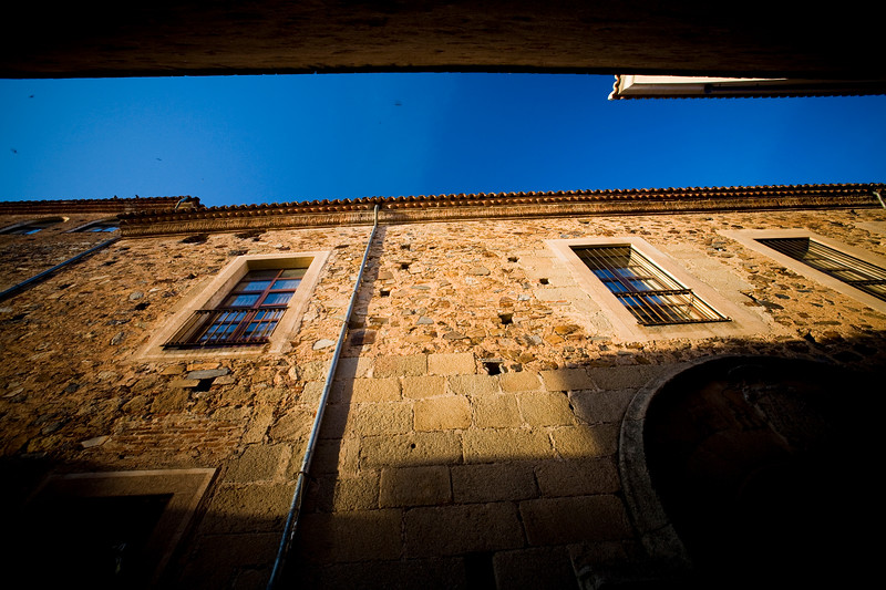 Evening light on an old wall, Caceres, Spain