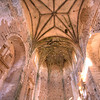 Gothic vaults of the abandoned convent of San Antonio de Padua (15th century), Garrovillas, Caceres, Extremadura, Spain
