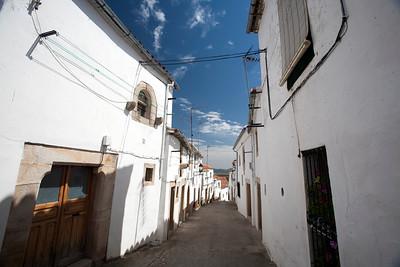 Street of the Jewish quarter, town of Valencia de Alcantara, province of Caceres, autonomous community of Extremadura, southwestern Spain