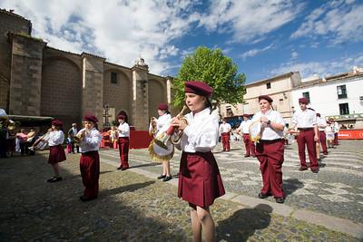 Children's brass band, town of Valencia de Alcantara, province of Caceres, autonomous community of Extremadura, southwestern Spain