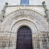 Entrance of Santa Maria la Mayor de la Asuncion church, Brozas, Caceres, Spain
