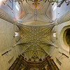 Star vault, Santiago church, Caceres, Spain