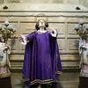 Saint and angels, church of Santos Martires San Fabian y san Sebastian, Brozas, Caceres, Spain