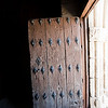 Old wooden door, San Pedro church, Garrovillas, Caceres, Spain