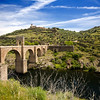 River Tagus and Roman bridge, Alcantara, Caceres, Spain