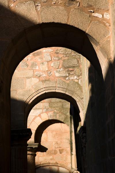 Arcade, Santiago church, Caceres, Spain