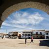 Plaza Mayor or main square, Garrovillas de Alconetar, Caceres, Extremadura, Spain