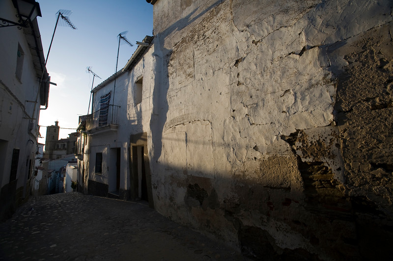 Jewish quarter streets, town of Alcantara, province of Caceres, autonomous community of Extremadura, southwestern Spain