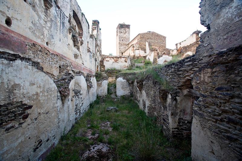 Ruins of Las Monjas convent, town of Alcantara, province of Caceres, autonomous community of Extremadura, southwestern Spain
