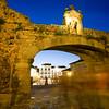 Arco de la Estrella at dusk, Caceres, Spain