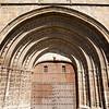 Gothic entrance of San Pedro church, Garrovillas, Caceres, Spain