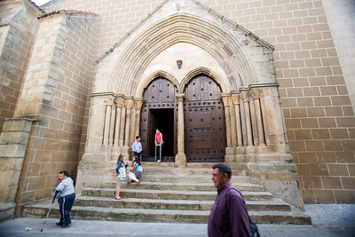 Gothic facade of Encarnacion church, town of Valencia de Alcantara, province of Caceres, autonomous community of Extremadura, southwestern Spain
