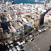 Aerial view of Cadiz (Spain) from the West Tower of the Cathedral, the highest point in the city.