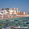 La Caleta Beach is a small and very popular urban beach located in Cadiz city center, Spain.