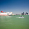 Colourful, polarized images of Cadiz seaport, Spain.