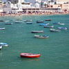 La Caleta Beach is a small and very popular urban beach located in Cadiz city center, Spain.