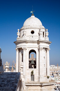 View of the East Tower of Cadiz Cathedral from the West Tower.