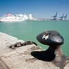 Colourful, polarized images of Cadiz seaport, Spain.