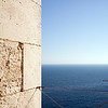 View of the Atlantic Ocean from the west tower of Cadiz Cathedral, Spain