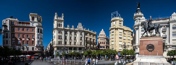 Plaza de las Tendillas (West and North sides), Cordoba, Spain.