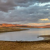 Puente Nuevo reservoir, Guadiato river, province of Cordoba, Spain. High resolution panorama.