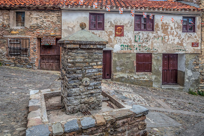 Old stone houses, Yanguas, Soria, Spain