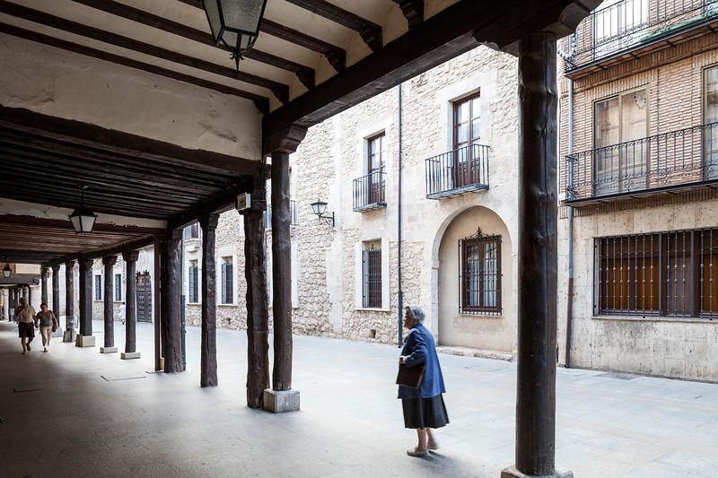 Calle Mayor (Main Street), El Burgo de Osma, Soria, Spain.