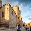 Partial view of the Cathedral. El Burgo de Osma, Soria, Spain.
