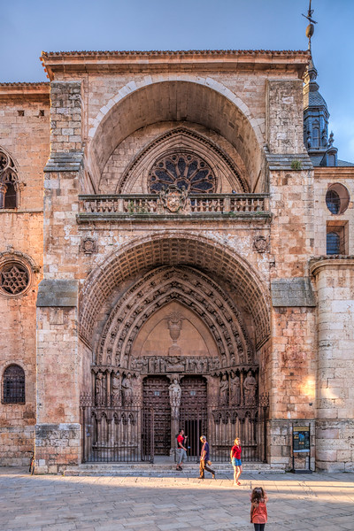 Facade of the Cathedral. El Burgo de Osma, Soria, Spain.